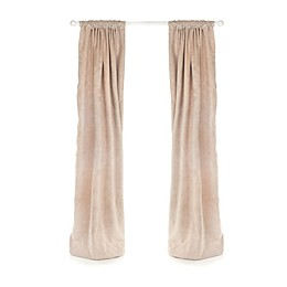 Glenna Jean Happy Trails 90-Inch Velvet Window Panels in Tan (Set of 2)