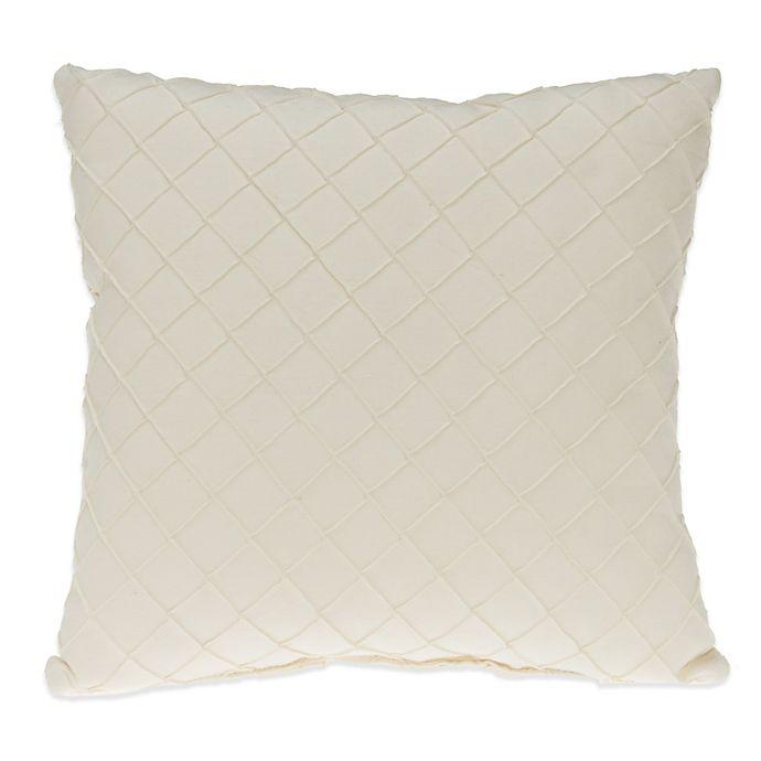 Alternate image 1 for Glenna Jean Harper Pintuck Throw Pillow in Cream