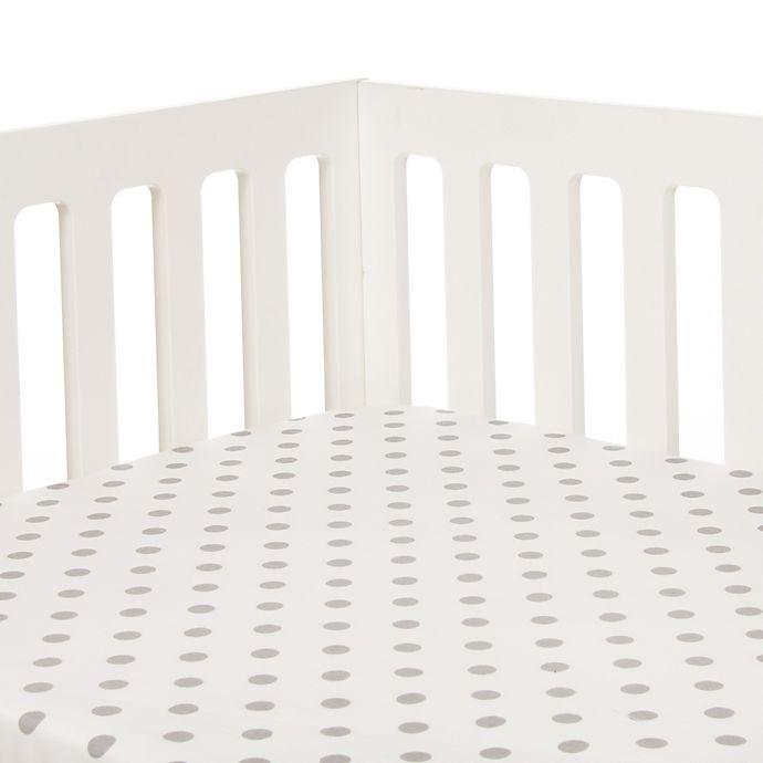 Glenna Jean Heaven Sent Dot Print Fitted Crib Sheet In