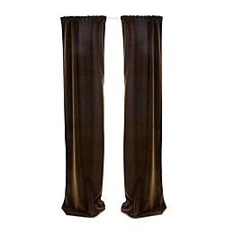 Glenna Jean Urban Cowboy 90-Inch Window Panels in Chocolate (Set of 2)