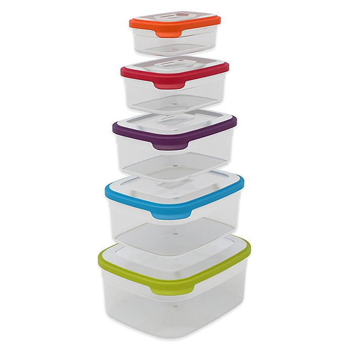 Alternate image 1 for Joseph Joseph® Nest™ 10-Piece Food Storage Container Set
