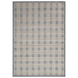 Nourison Hollywood Shim Machine Woven Area Rug in Blue