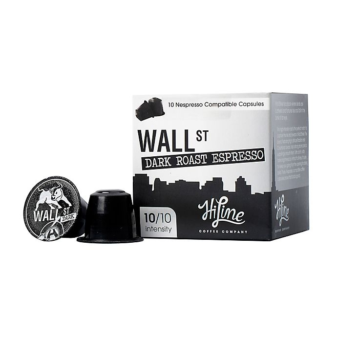 Alternate image 1 for HiLine Coffee Wall Street Dark Roast Espresso Capsules 10-Count
