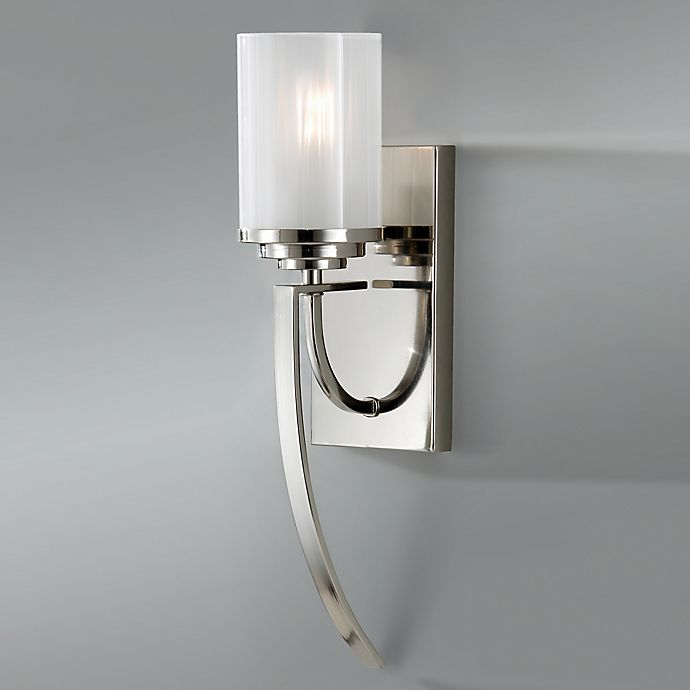 Alternate image 1 for Feiss® Finley 1-Light Wall Sconce in Polished Nickel