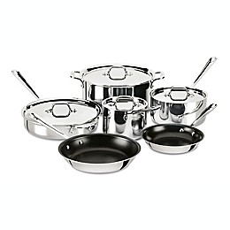 All-Clad Stainless Steel Nonstick 10-Piece Cookware Set