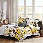 Mizone Allison Reversible Full/Queen Comforter Set in Yellow/Grey