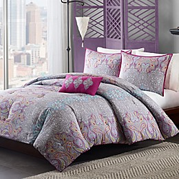 Mizone Keisha Comforter Set in Grey