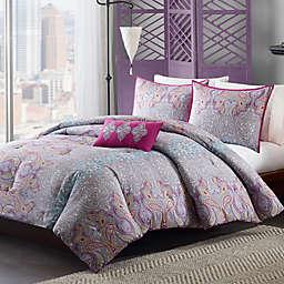 Mizone Keisha Comforter Set in Grey