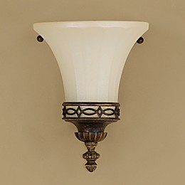 Sea Gull Collection by Generation Lighting  Drawing Room 8-Inch Wall Sconce in Walnut