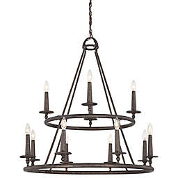 Quoizel® Voyager 6-Light Ceiling-Mount Chandelier in Malaga