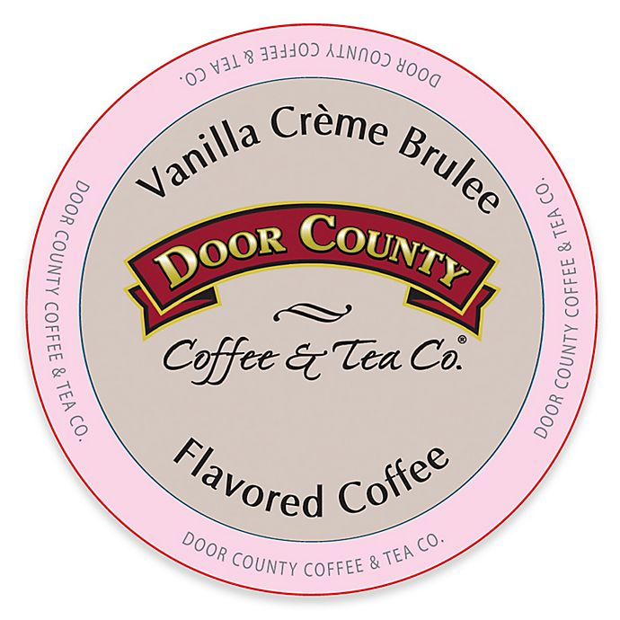 Alternate image 1 for 12-Count Door County Coffee & Tea Co.® Vanilla Creme Brulee for Single Serve Coffee Makers