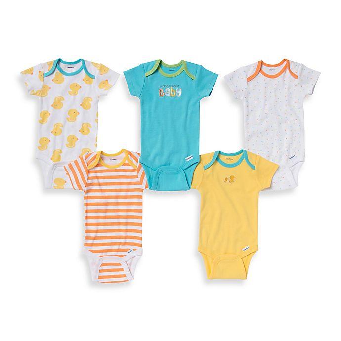01ce0d59b Gerber ONESIES® Brand 5-Pack Cutest Baby Print Short Sleeve ...