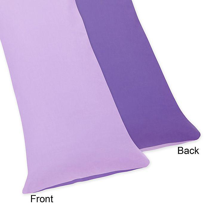 Alternate image 1 for Sweet Jojo Designs Danielle's Daisies Maternity Body Pillow Case in Purple