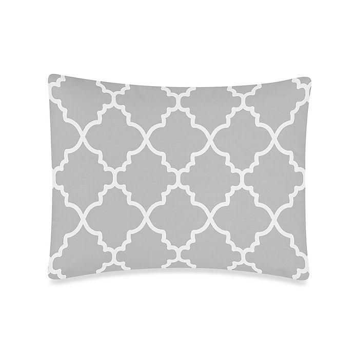 Alternate image 1 for Sweet Jojo Designs Trellis Standard Pillow Sham in Grey/White