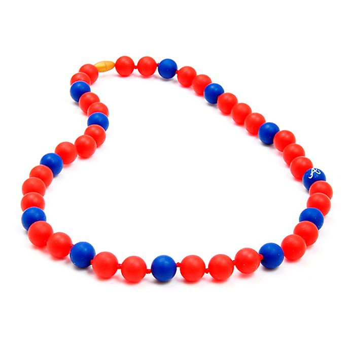 Alternate image 1 for chewbeads® MLB Atlanta Braves Gameday Teething Necklace