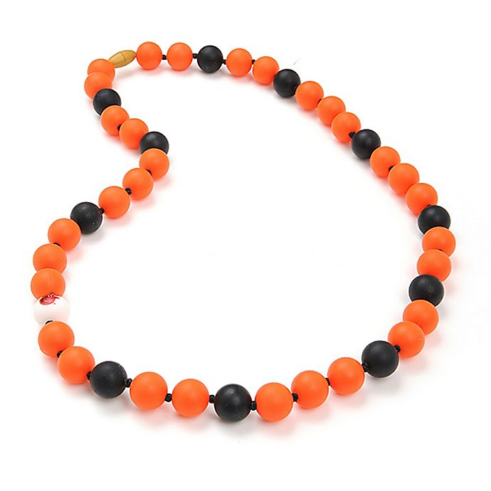 Alternate image 1 for chewbeads® MLB Baltimore Orioles Gameday Teething Necklace