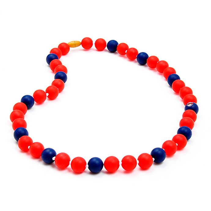 Alternate image 1 for chewbeads® MLB Cleveland Indians Gameday Teething Necklace