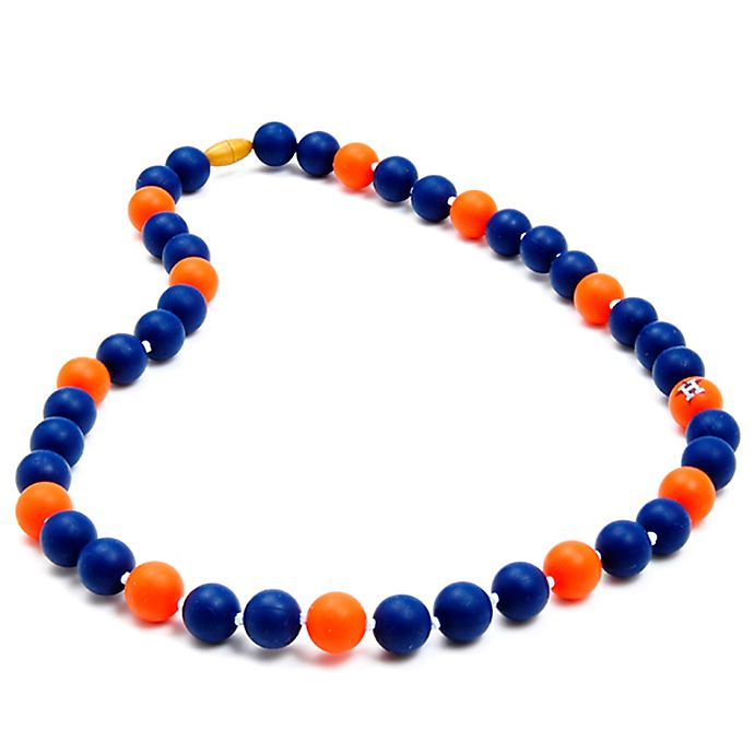 Alternate image 1 for chewbeads® MLB Houston Astros Gameday Teething Necklace