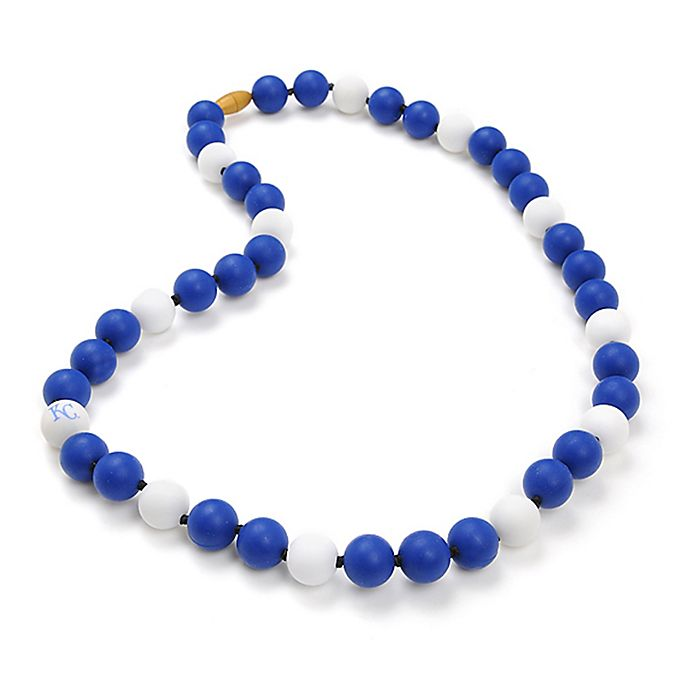 Alternate image 1 for chewbeads® MLB Kansas City Royals Gameday Teething Necklace