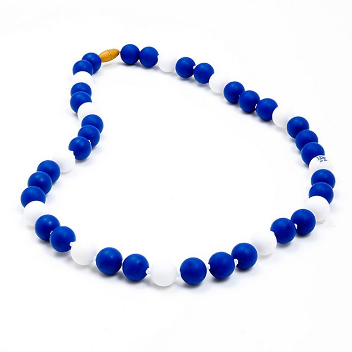 Alternate image 1 for chewbeads® MLB Los Angeles Dodgers Gameday Teething Necklace