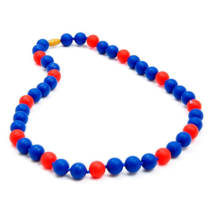 Alternate image 1 for chewbeads® MLB Texas Rangers Gameday Teething Necklace