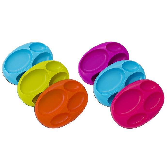 Alternate image 1 for Boon® PLATTER Edgeless Non-Skid Divided Plate (Set of 3)