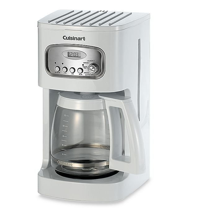 Cuisinart 12 Cup Programmable Coffee Maker In White