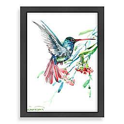 Americanflat Suren Nersisyan Hummingbird and Flowers Wall Art