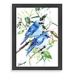 Americanflat Suren Nersisyan Mountain Blue Birds Wall Art