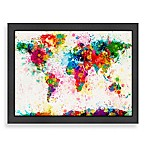Americanflat World Map Splatter Colour Wall Art