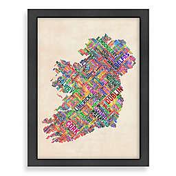 Americanflat Art Pause Ireland World Map Wall Art