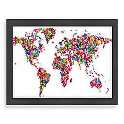 Americanflat Art Pause World Map Butterfly 2 Wall Art