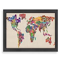 World Map Word Wall Art