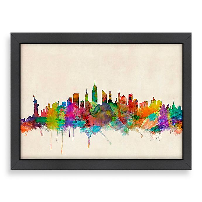 Americanflat Art Pause New York City Colored Panoramic