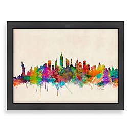 Americanflat Art Pause New York City Colored Panoramic Skyline Wall Art
