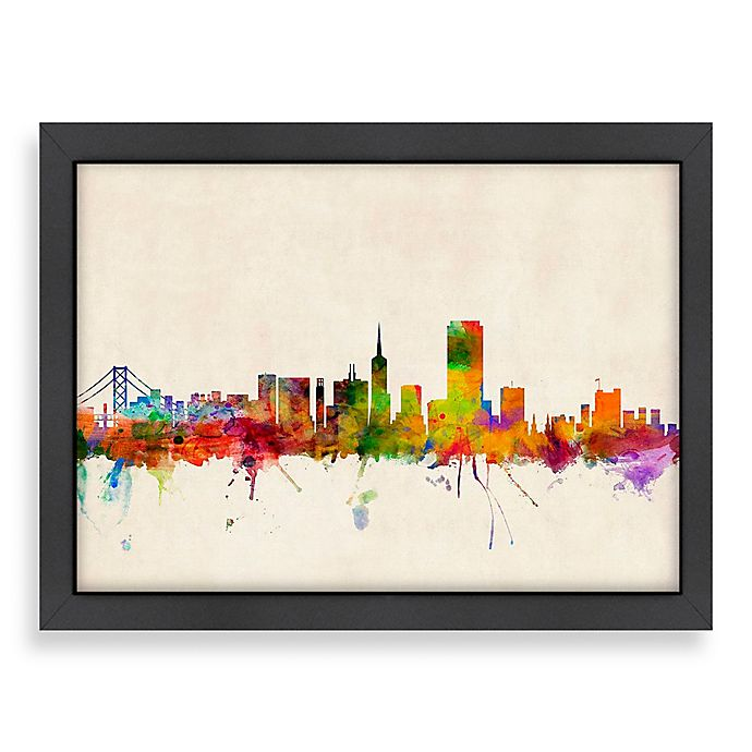 Americanflat Art Pause San Francisco Colored Skyline Wall