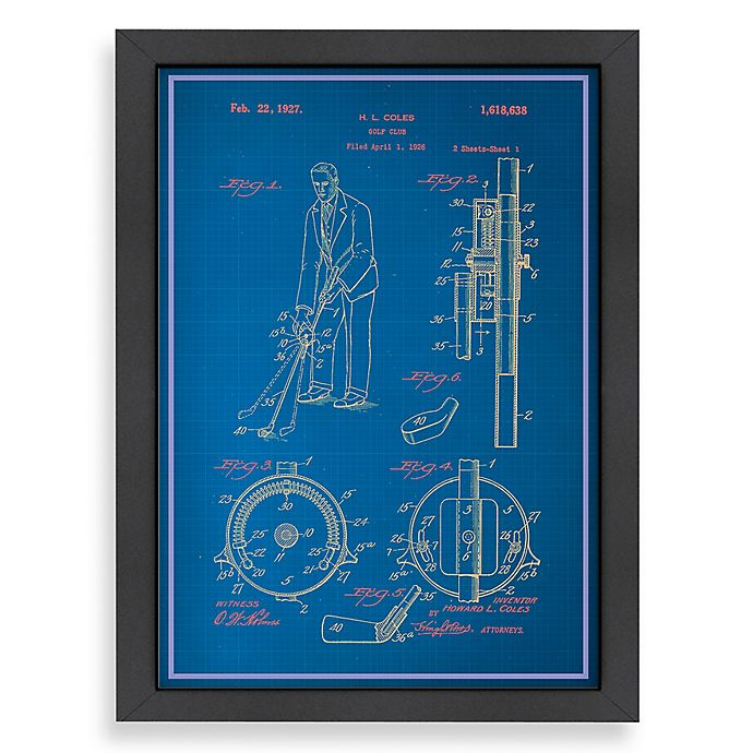 Alternate image 1 for Americanflat Adjustable Golf Club Blueprint 20.5-Inch x 26.5-Inch Wall Art