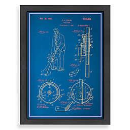 Americanflat Adjustable Golf Club Blueprint 20.5-Inch x 26.5-Inch Wall Art
