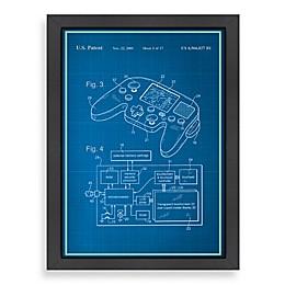 Americanflat Video Game Controller Blueprint Wall Art