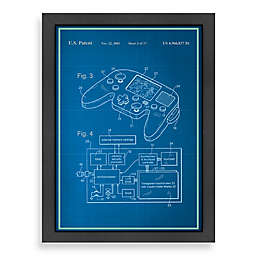 Americanflat Video Game Controller Blueprint 20.5-Inch x 26.5-Inch Wall Art