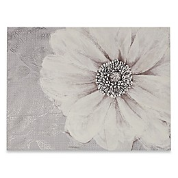 Grey Bloom Canvas Wall Art