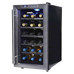 Newair Silent Wine Refrigerator 18 Bottle In Stainless Steel