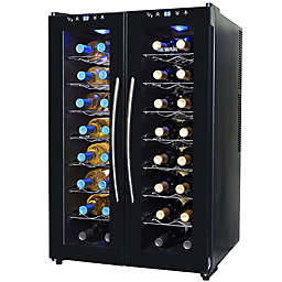 NewAir® Silent Wine Cooler 2 Door 32 Bottle Dual Zone in Black