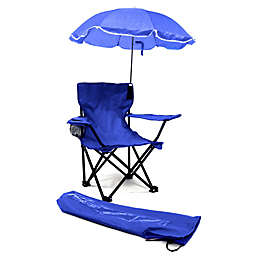 Redmon Kids Camp Chair With Umbrella In Blue