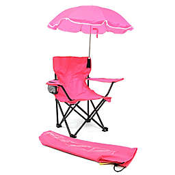 Redmon Kids' Camp Chair with Umbrella in Pink