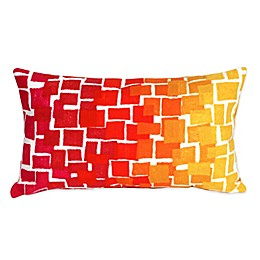 Liora Manne Ombre Tile 12-Inch x 20-Inch Outdoor Throw Pillow in Warm Colors