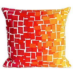 Liora Manne Ombre Tile 20-Inch x 20-Inch Outdoor Throw Pillow in Warm Colors