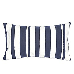 Liora Manne Marina Stripe 12-Inch x 20-Inch Outdoor Throw Pillow in Marine