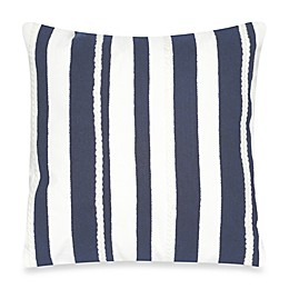 Liora Manne Marina Stripe 20-Inch x 20-Inch Outdoor Throw Pillow in Marine