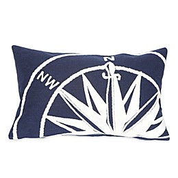 Liora Manne Compass Marine 12-Inch x 20-Inch Outdoor Throw Pillow